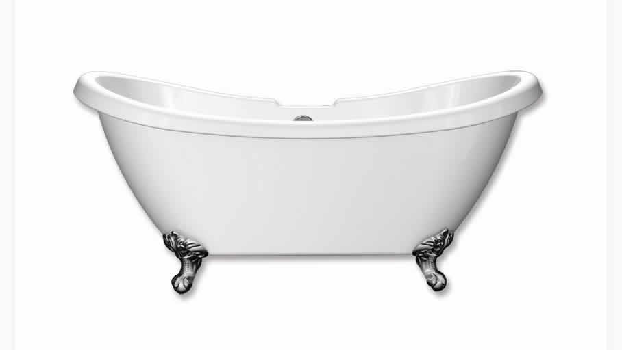 Freestanding Baths   Traditional Double Slipper