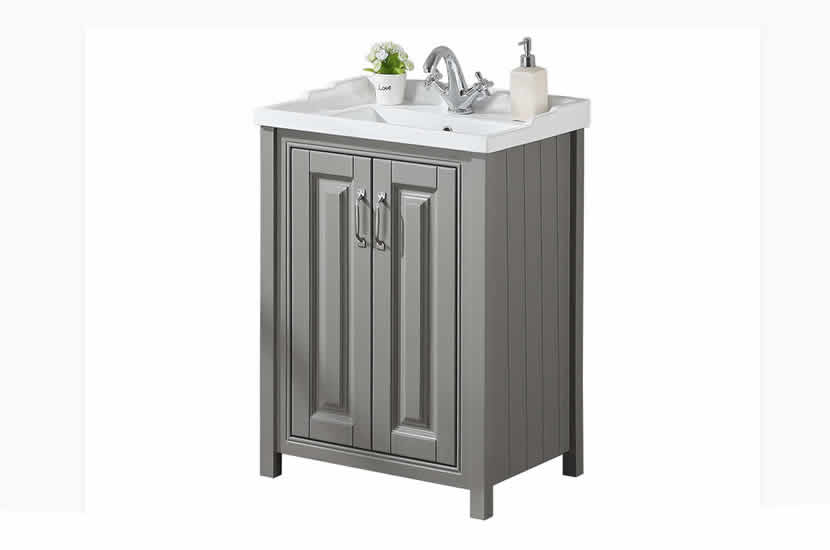 Cottage 600mm Vanity Unit Stone Grey