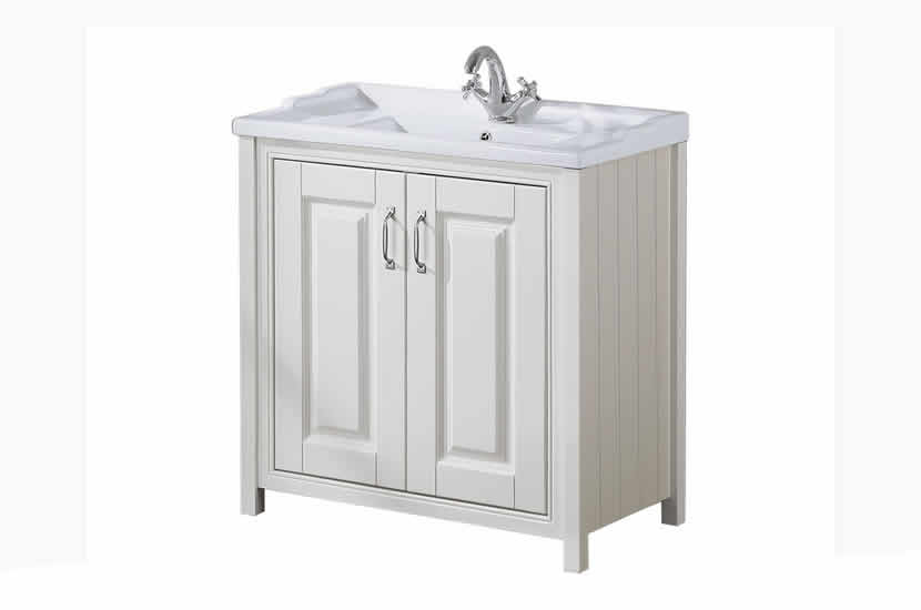 Cottage Ivory 800mm Vanity Unit