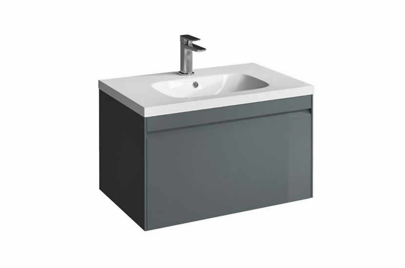 Hampton 700mm 1 Drawer Basin Anthracite
