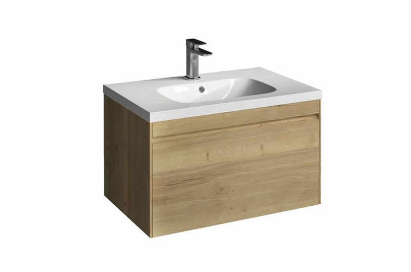 Hampton 700mm 1 Drawer Basin Oak