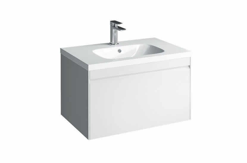 Hampton 700mm 1 Drawer Basin White