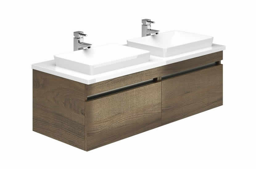 Knightsbridge 1200 Double Sink Gladstone Oak