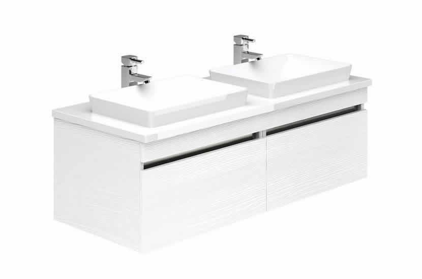 Knightsbridge 1200 Double Sink Okasha White