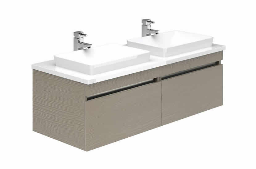 Knightsbridge 1200 Double Sink Stone Grey Ash