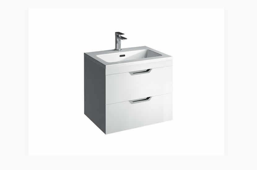 Madison 600mm 2 Door Lounge Basin White