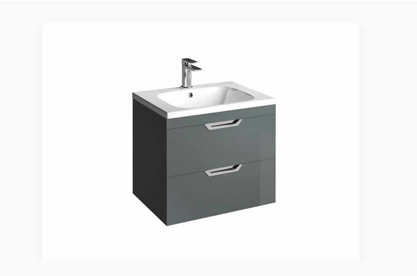 Madison 600mm 2 Door Orca Basin Anthracite