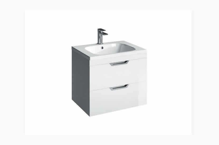 Madison 600mm 2 Door Orca Basin White