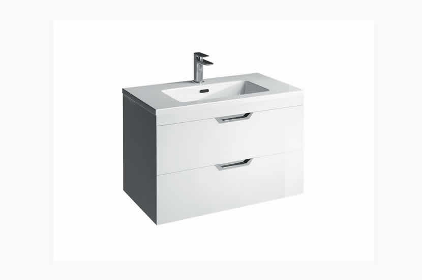 Madison 800mm 2 Door Lounge Basin White