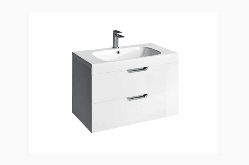 Madison 800mm 2 Door Orca Basin White