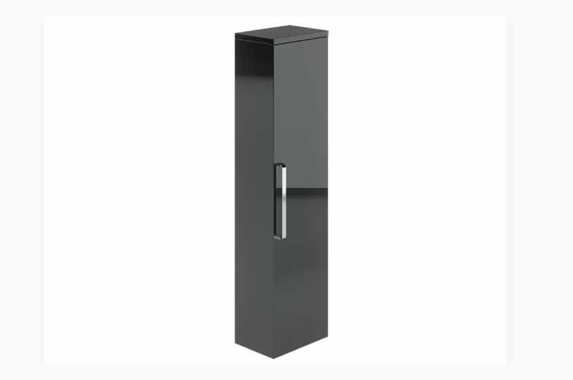 Naples Tall Boy Grey Gloss