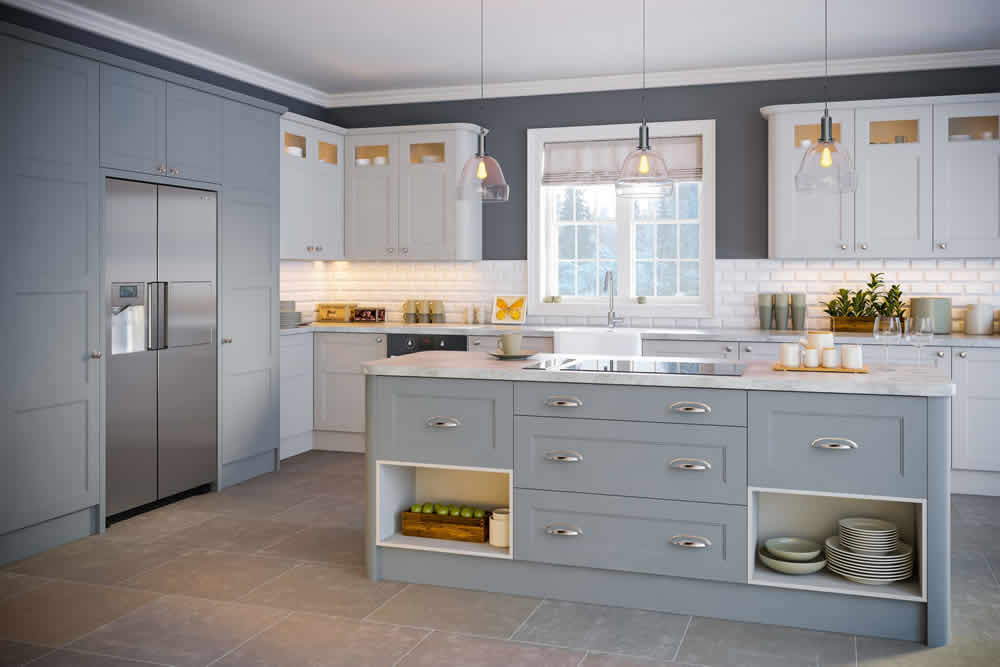 Bella Matt Denim Aldridge Kitchen