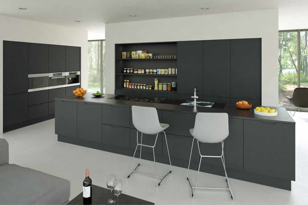Bella Matt Graphite Integra Kitchen