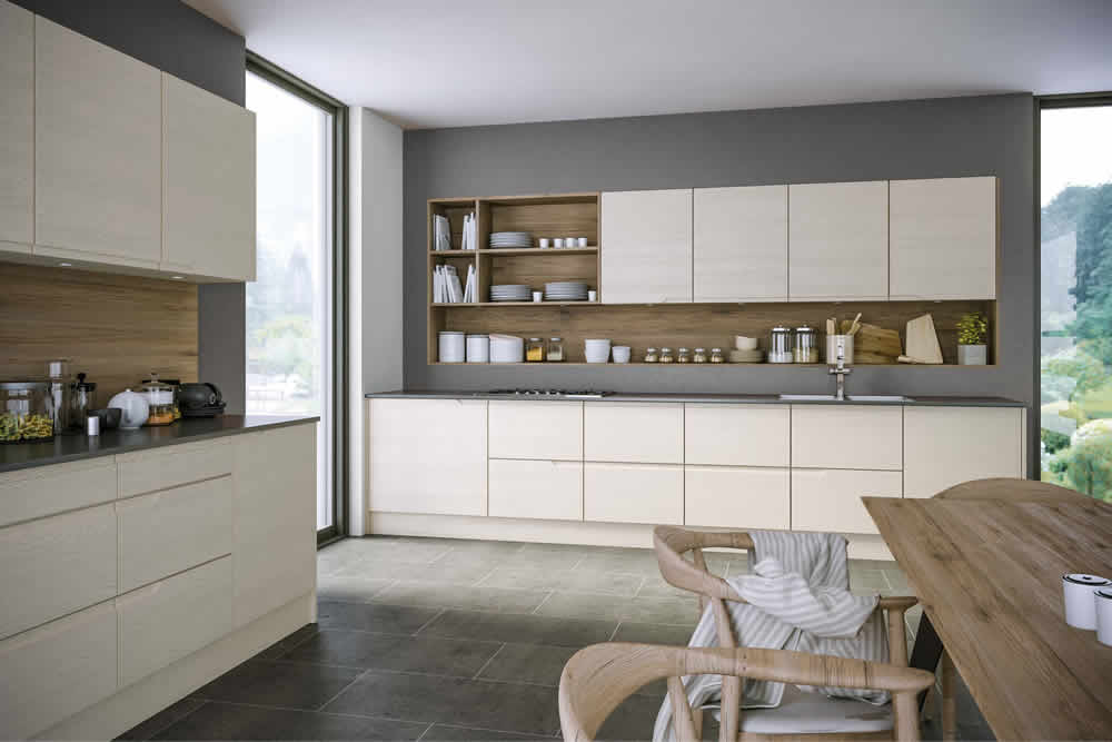 Bella Oakgrain Cashmere Knebworth Kitchen