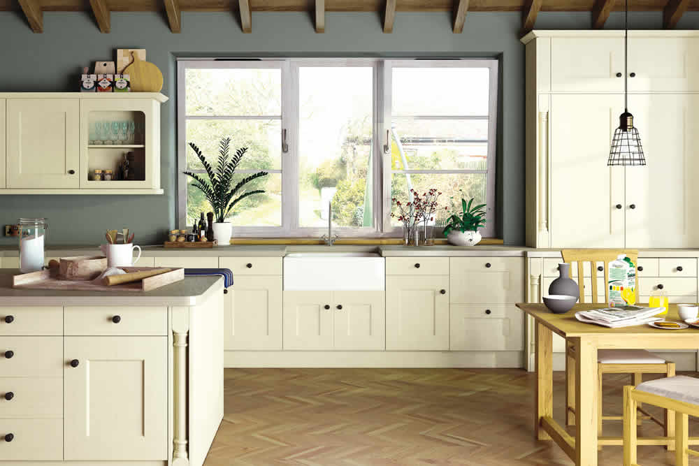 Bella Oakgrain Cream Cambridge2 Kitchen