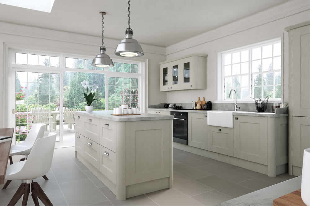 Bella Oakgrain Grey Cambridge Kitchen