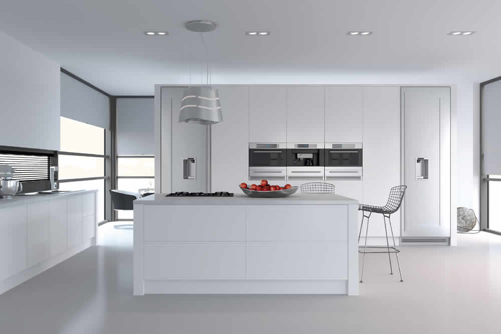 Bella Porcelain White Venice Kitchen