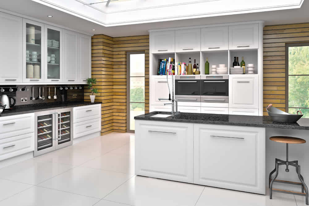 Bella Satin White York Kitchen