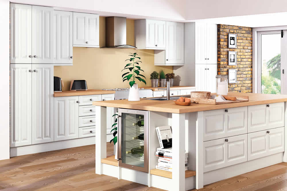Bella Super White Ash Milano Kitchen