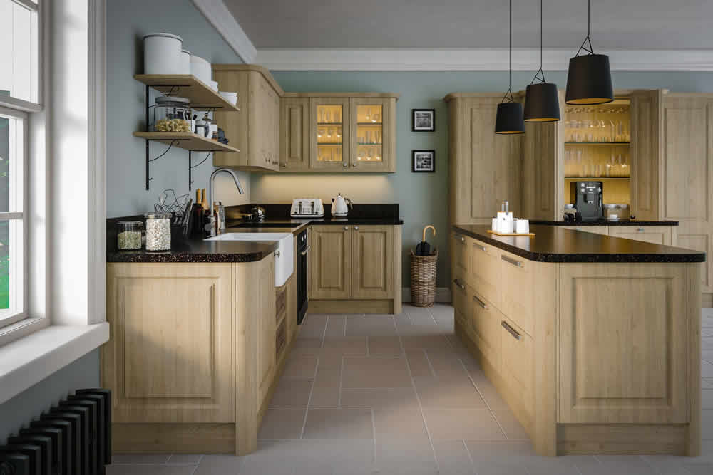 Bella Tortona Natural Oak Tuscany Kitchen