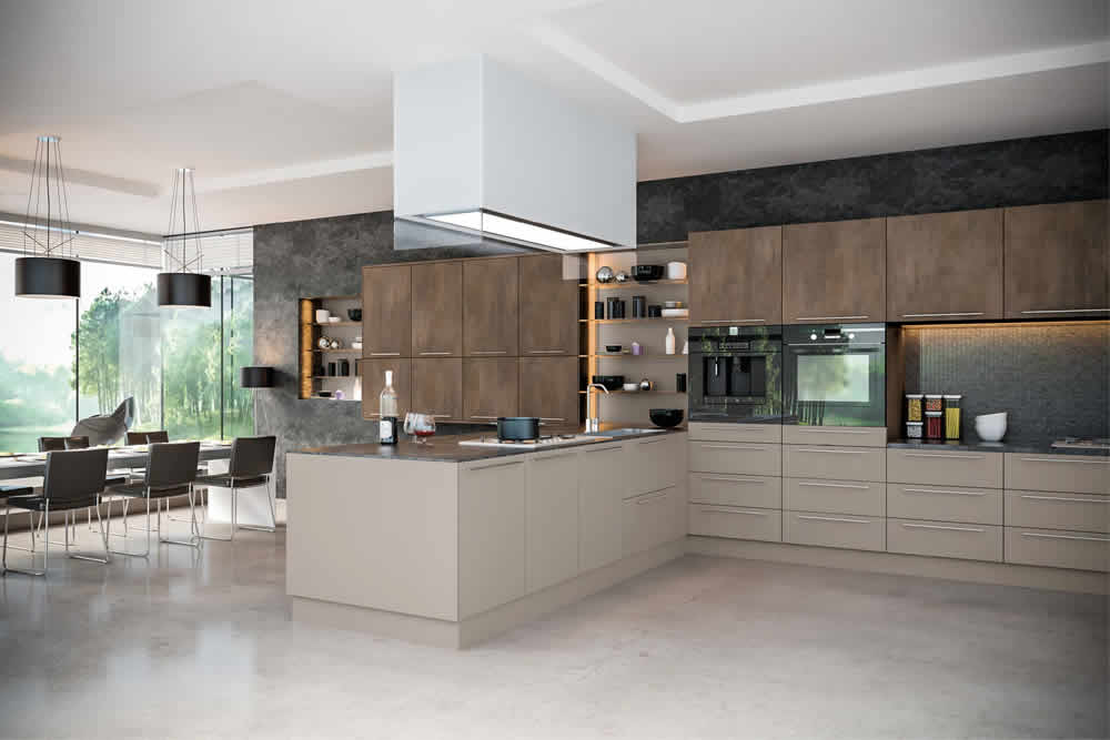 Valore Grey Brown Metallo Stone Grey Kitchen