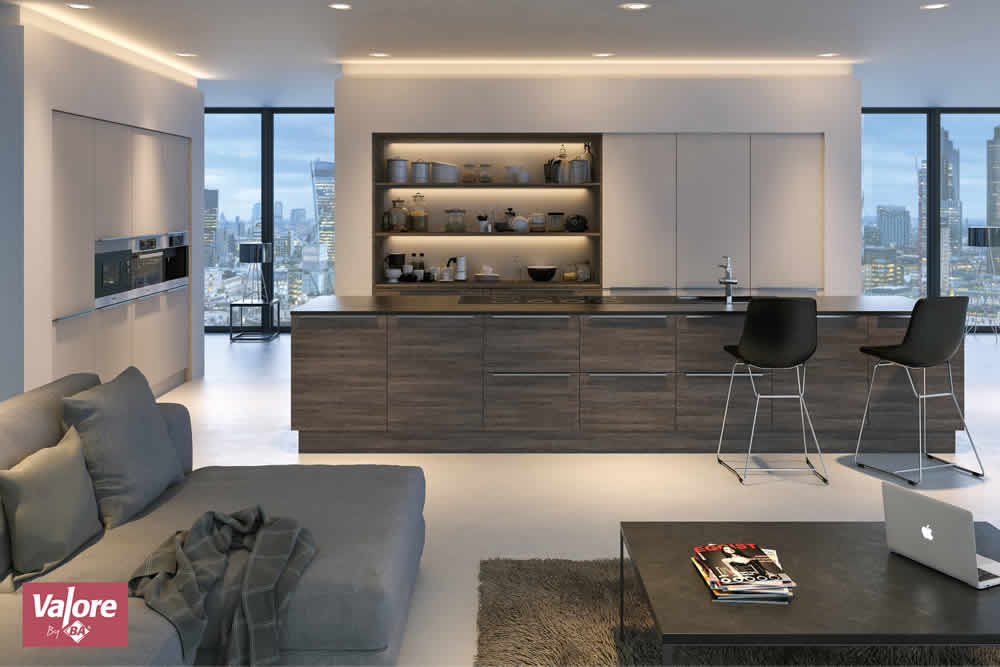 Valore Mali Wenge Cashmere Kitchen2