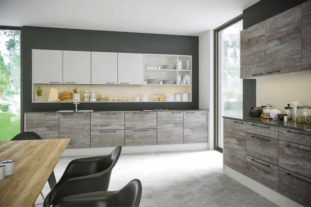 Zurfiz Driftwood Light Grey Supermatt Light Grey Kitchen