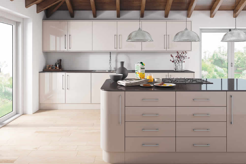 Zurfiz Ultra Gloss Cashmere Kitchen