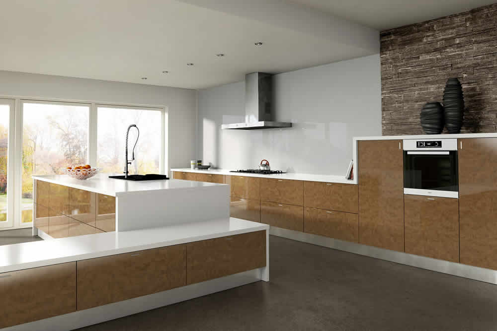 Zurfiz Ultra Gloss Copperleaf Kitchen
