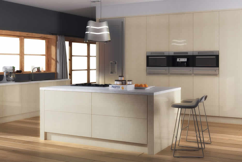 Zurfiz Ultra Gloss Limestone Kitchen