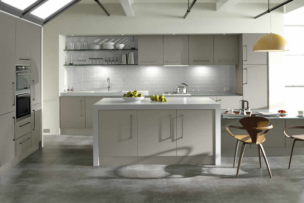 Zurfiz Ultra Matt Metallic Cashmere Kitchen
