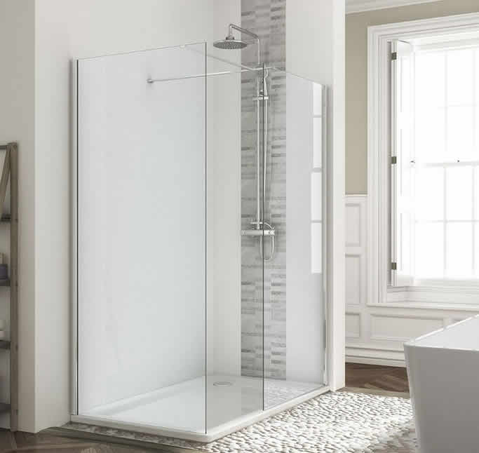 WR8 Wetroom Panel With Side Panel